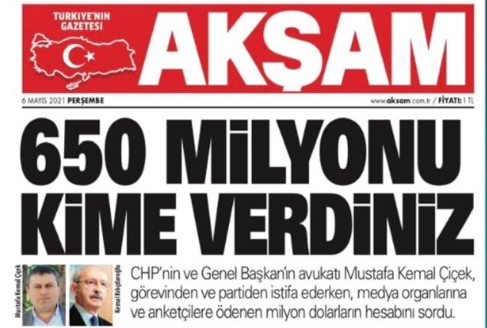 650 milyonu kime verdiniz